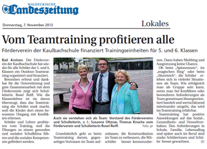 Teamtrainings an der Kaulbachschule Bad Arolsen